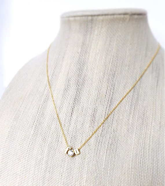 Fu Necklace Gold FU Necklace Gold Charm FU by 178thNMadison