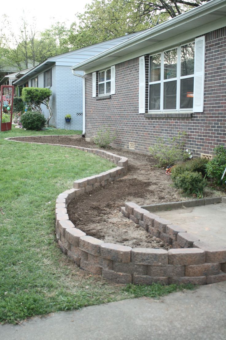 Brick flower bed drainage woodworking projects plans for No maintenance flower bed