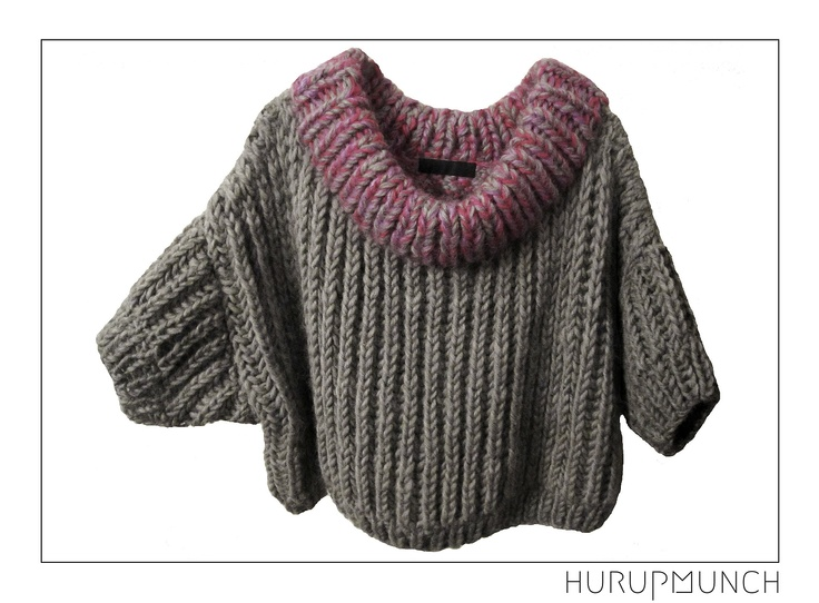 100% pure new wool knitted top 3/4 sleeves