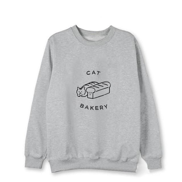 Kpop New Blackpink Same Sweatershirt Harajuku style Loose Long sleeved Hoodie Man and Women's Winter Hoody with hat Gray XXL