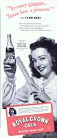 Royal Crown Cola - RC Rates, Lynn Bari 1944 Ad Picture