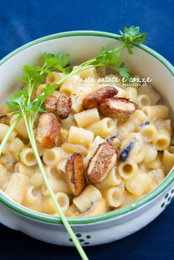 Una meraviglia, non posso dire altro... Pasta patate e cozze alla napoletana con crosta di parmigiano croccante: cremosa, ben mantecata e ricca di sapori!