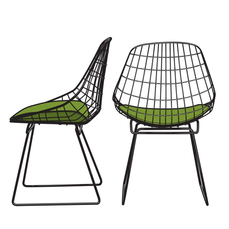 WIRE CHAIR  Cees Braakman for Pastoe – 1958.