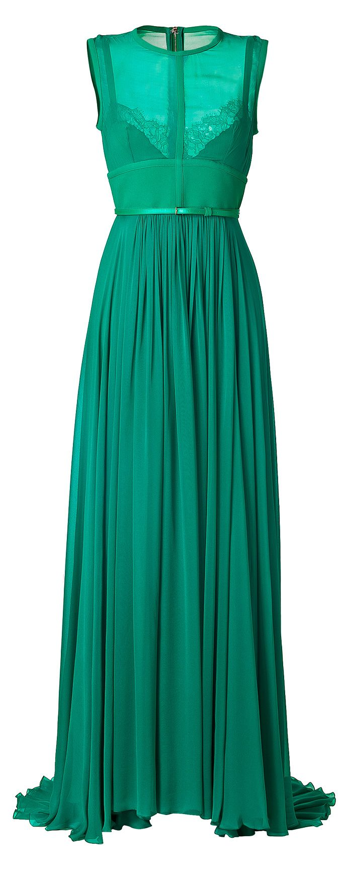 Elie Saab Emerald Gown