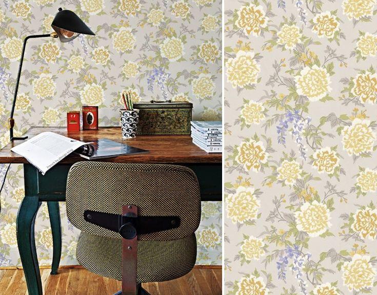 Les 25 meilleures id es concernant papier peint anglais sur pinterest combi - Decoration bureau style anglais ...