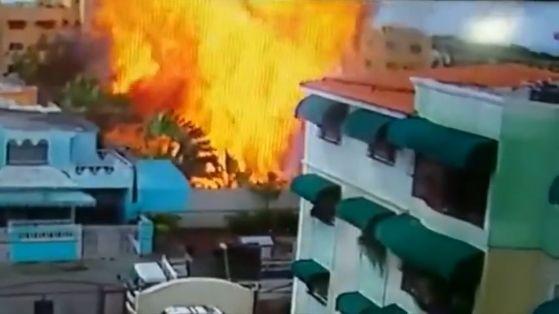 도미니카 호텔 폭발 영상