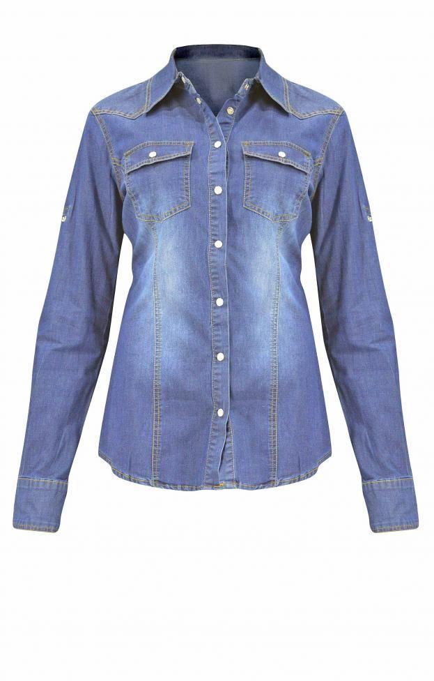 Γυναικείο πουκάμισο denim | Πουκάμισα jeans - Jeans & Demims -