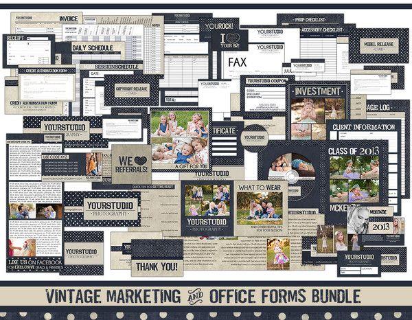 Vintage Marketing & Office Forms Bundle