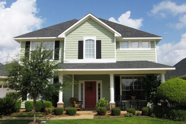 white green exterior paint could do black shutters, white garage door