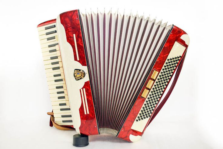 Accordion Siletta Piano Accordion 120 Bass Button German Acordeon Vintage Musical Instrument Accordeon Accordian with Case Weltmeister