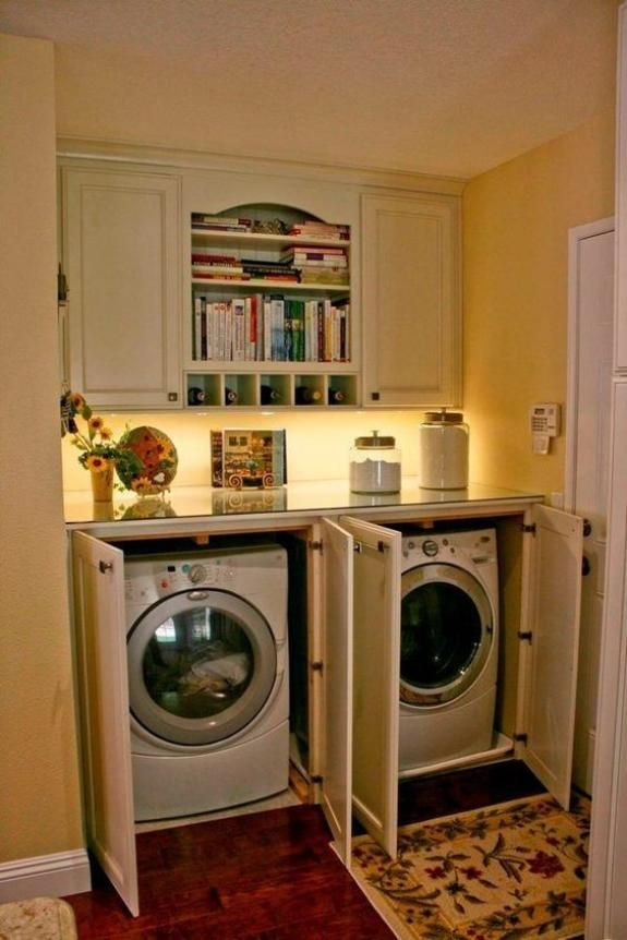 An Attractive Laundry Storage Cabinet In 2020 Hidden Laundry Rooms Laundry Room Storage Rustic Laundry Rooms