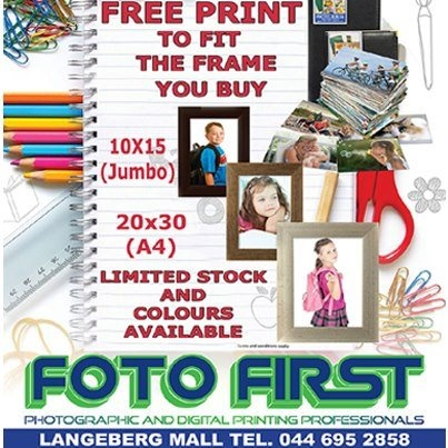 FRAME & PRINT SPECIALS   Free PRINT to fit the FRAME you buy  Limited stock and colours available. At Fotofirst Mossel Bay