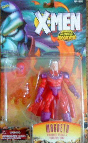 Marvel Comics Year 1995 XMen After Xavier The Age of Apocalypse 5 Inch Tall Action Figure  MAGNETO with Removable Helmet and Shrapnel Hand * Be sure to check out this awesome product.