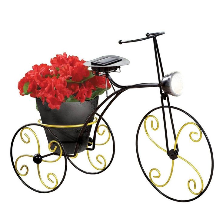 Vintage Bicycle Planter Solar Lighting Garden Decoration Outdoor Yard Decor NEW #CollectionsEtc