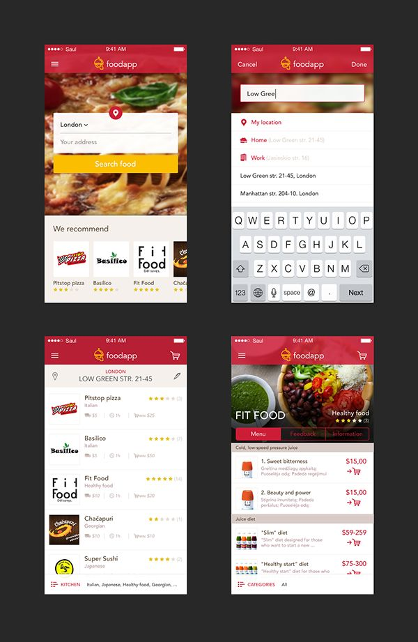 Mobile Food Ordering App concept on Behance