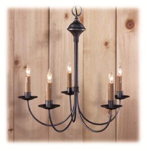 Colonial Primitive Country Lighting Wrought Iron Style Metal Chandelier C411 5