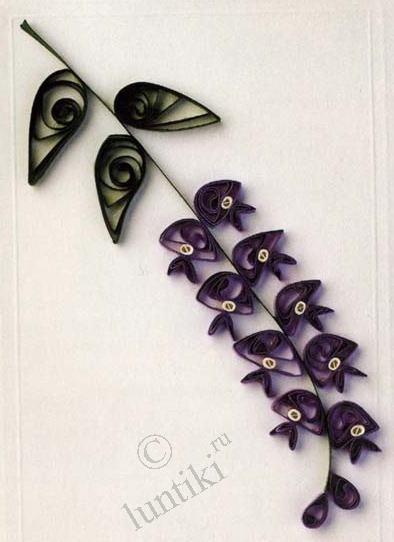 Узоры из бумажных лент - цветы - квиллинг