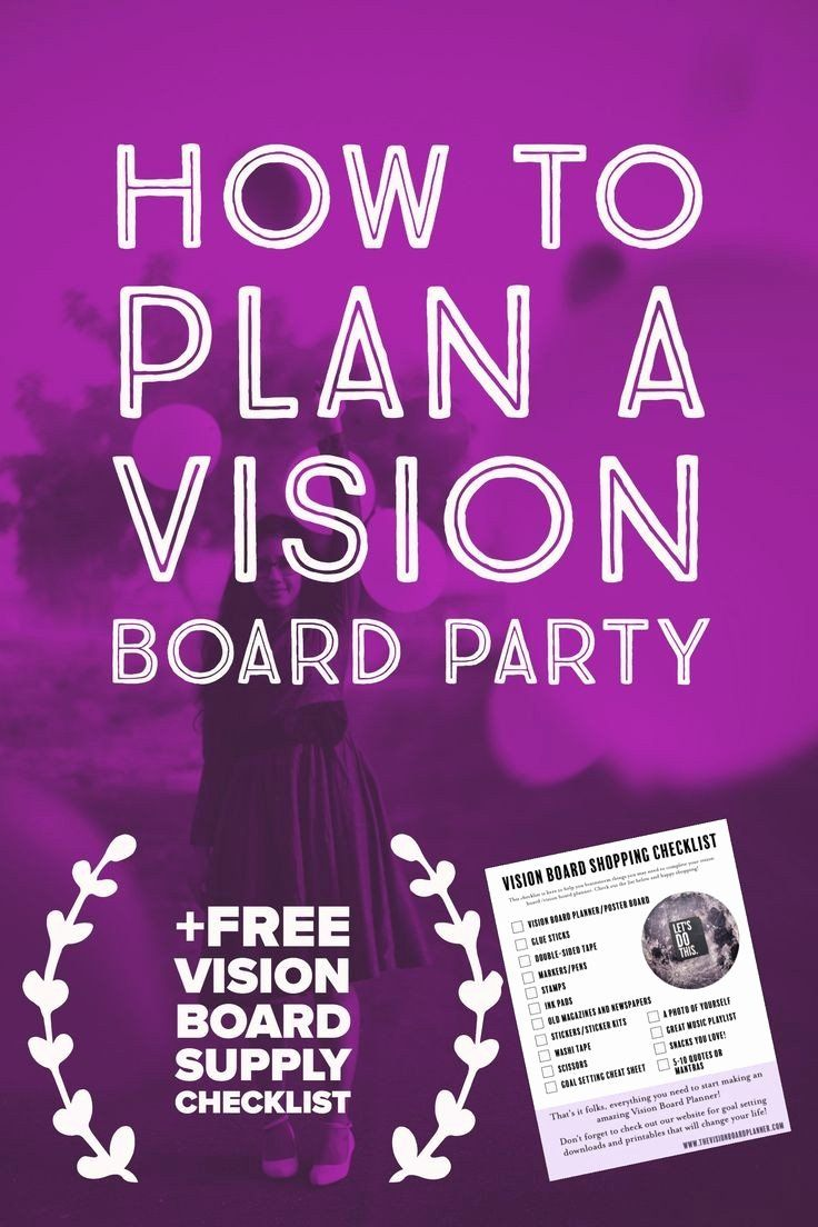 Vision Board Party Invitation Template Unique Party Invitations