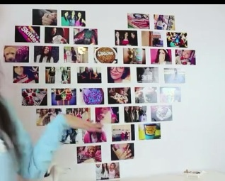 perfect way to spice up your room create a heart picture collage
