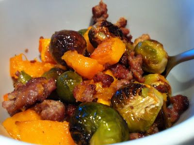 Jen's Gone Paleo: Sausage, Butternut Squash, and Brussels Sprouts
