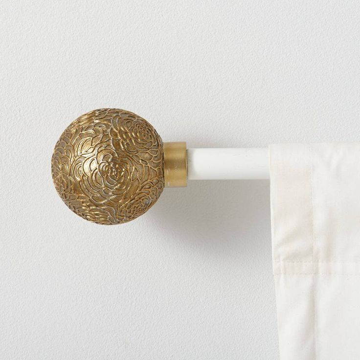 Rose Ball Curtain Finial - The Land of Nod - $24.95 - domino.com