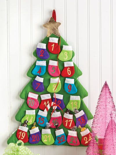 Advent calendar to make for the kids' rooms.