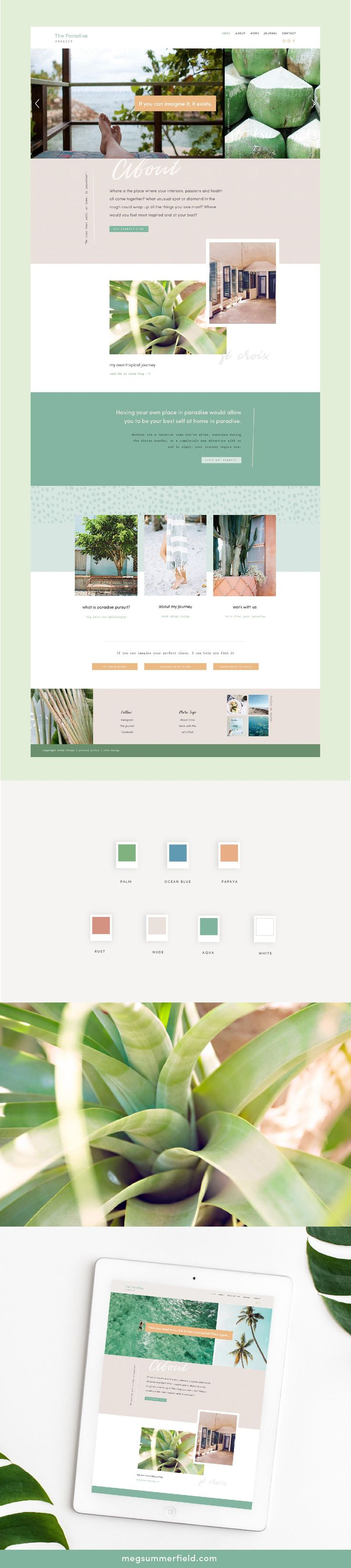 Bright and Tropical Squarespace Site Design