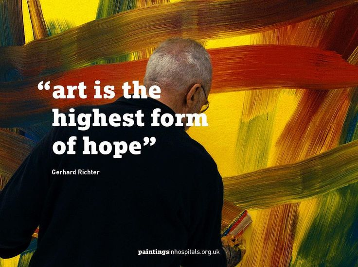 """""""Art is the highest form of hope"""" - Gerhard Richter #tbt     #quote #wellbeing #hope #quotes #quoteoftheday #painting #wisdom #instaart #instaquote #qotd #creative #compassion #color #contemporaryart #fineart #artistic #arte #artoftheday #quotestoliveby #truth #lifequotes #quotestagram #positive #inspire #inspirationalquotes #gerhardrichter #thursdaythoughts"""
