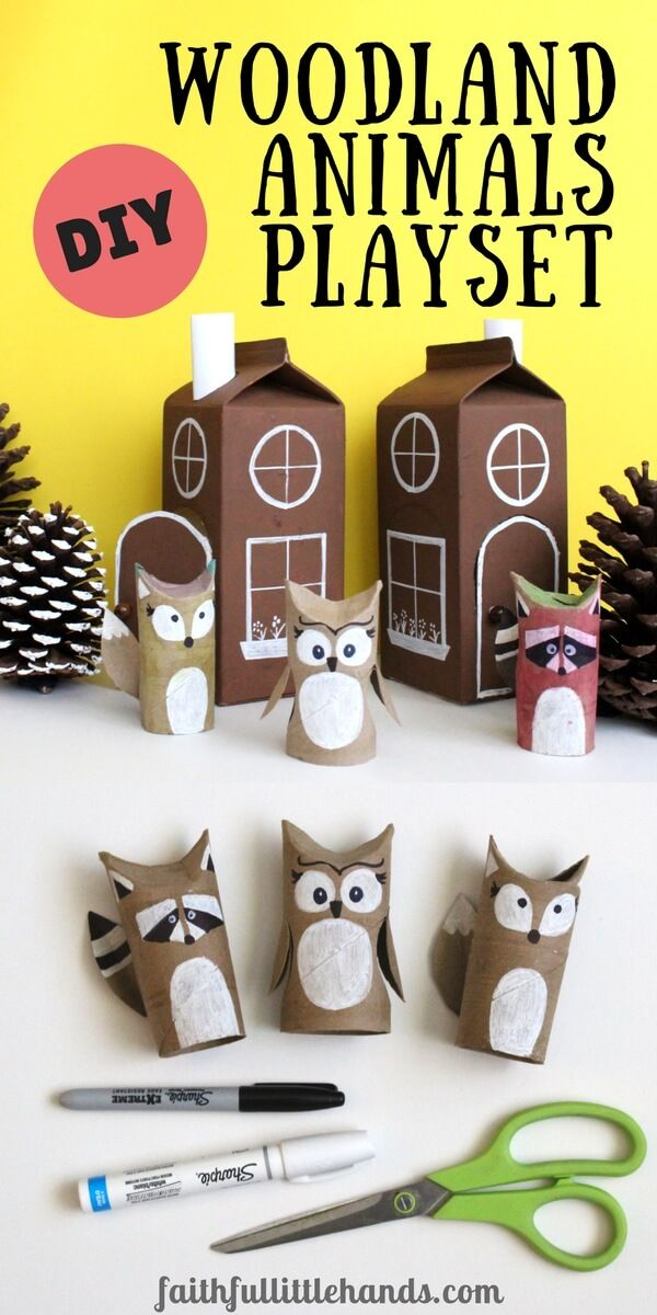 DIY Woodland Animals Playset