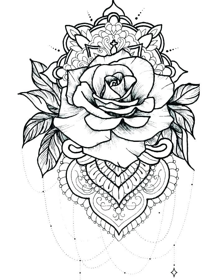 Tattoo Coloring Pages For Adults Best Coloring Pages For Kids Geometric Tattoo Rose Tattoos Mandala Tattoo