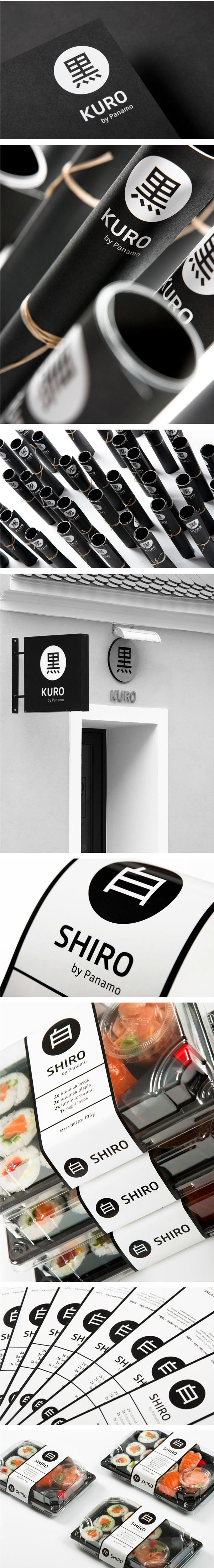Kuro & Shiro on Behance. It's sushi for lunch #identity #packaging #branding PD