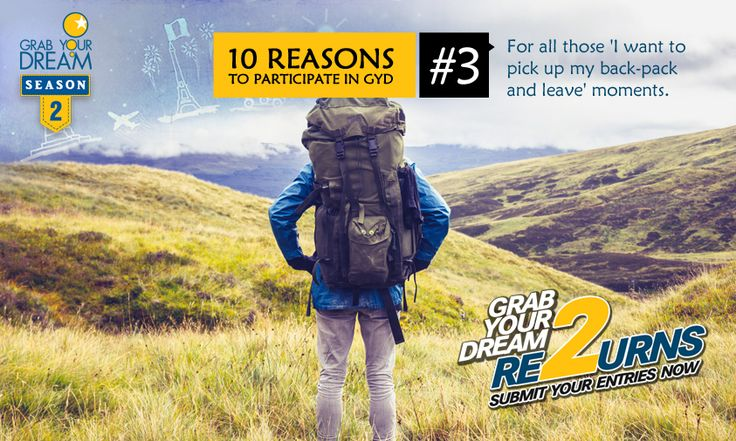 This is your opportunity to act on those impulsive moments and #GrabYourDream. Participate now: http://cnk.com/participategyd2