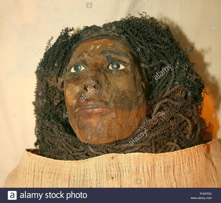 The mummy of Queen Henettawy, wife of King Pinudjem I from the 21st Dyansty (1054-1031 BC) is exhibited at the new Royal Mummy Room at the Egyptian Museum in Cairo