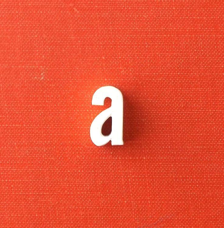 miniature letter. letter a. vintage letter. ceramic letter. lower case letter a. vintage white. white letter. miniature letter. typography http://etsy.me/2Dvpthk #housewares #homedecor #white #living #ceramic #letter #a #lowercase #vintage