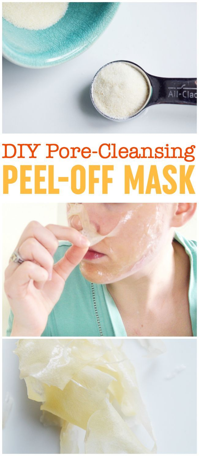 DIY Peel Off Mask | Pore-Cleansing Blackhead Mask | Gelatin Peel Off Mask | DIY Pore Strips | DIY Biore Strips