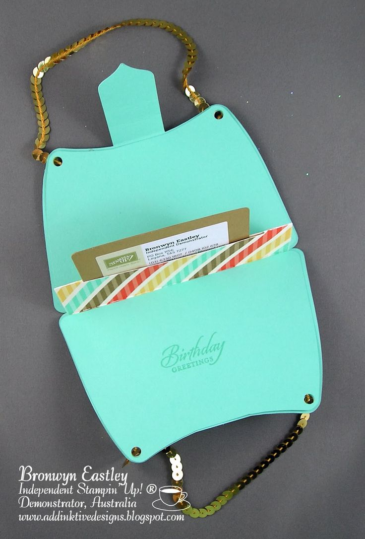 addINKtive designs: Retro Fresh Hand Bag with Gift Card Holder