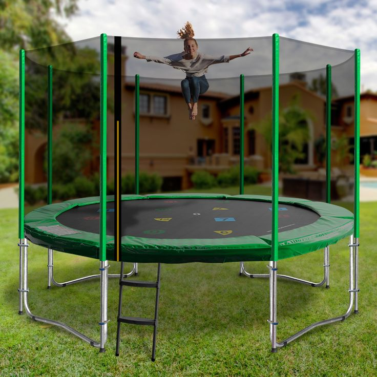 If you are looking for a durable and safe trampoline for your children then the 14ft model is the option for you. Featuring a 200kg weight capacity and a variety of colours, this premium trampoline is the perfect family, backyard accessory.