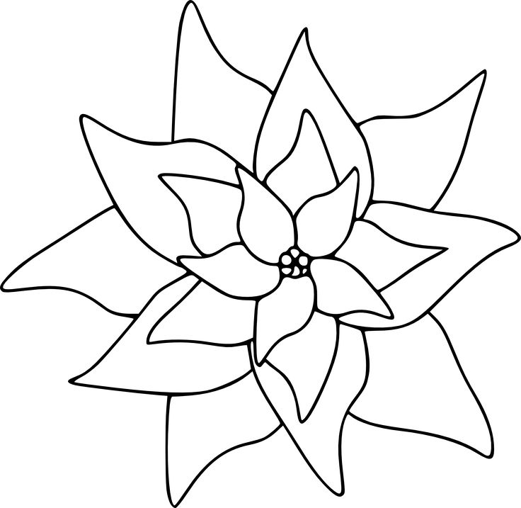 Poinsettia - Free Digital Stamp