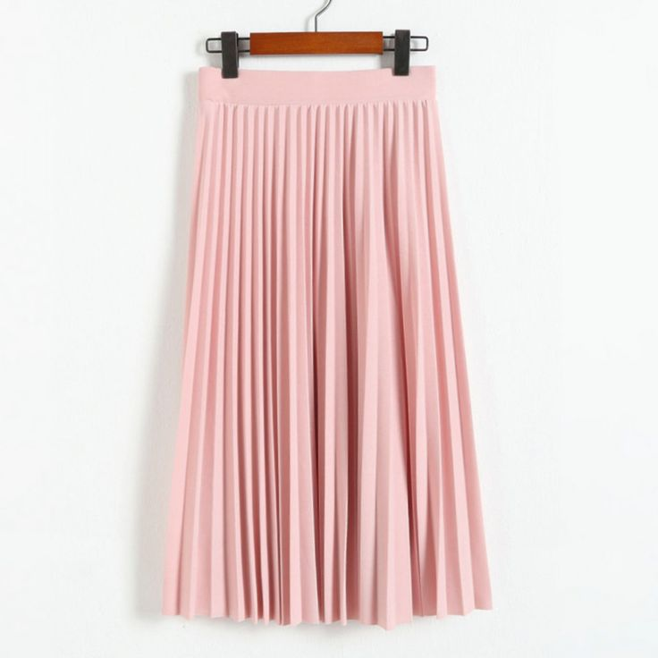 2017 spring all-match chiffon skirt waist fold slim skirt pleated skirt Department summer slim skirt
