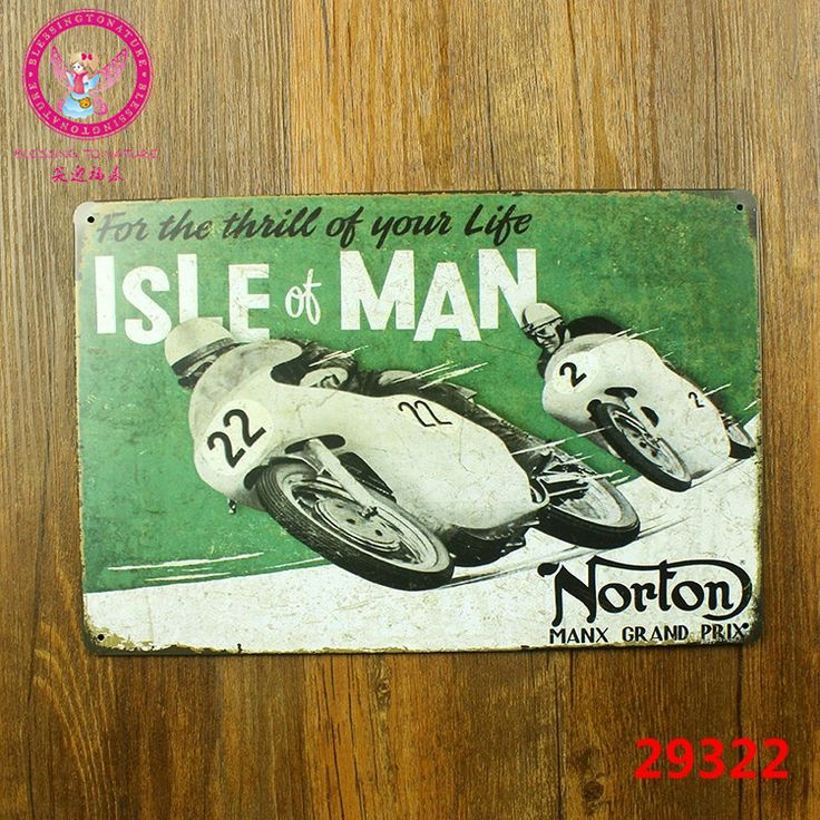 For the thrill of your life isle of man! tin signs vintage metal plate painting the wall decoration for garage club bar cafe
