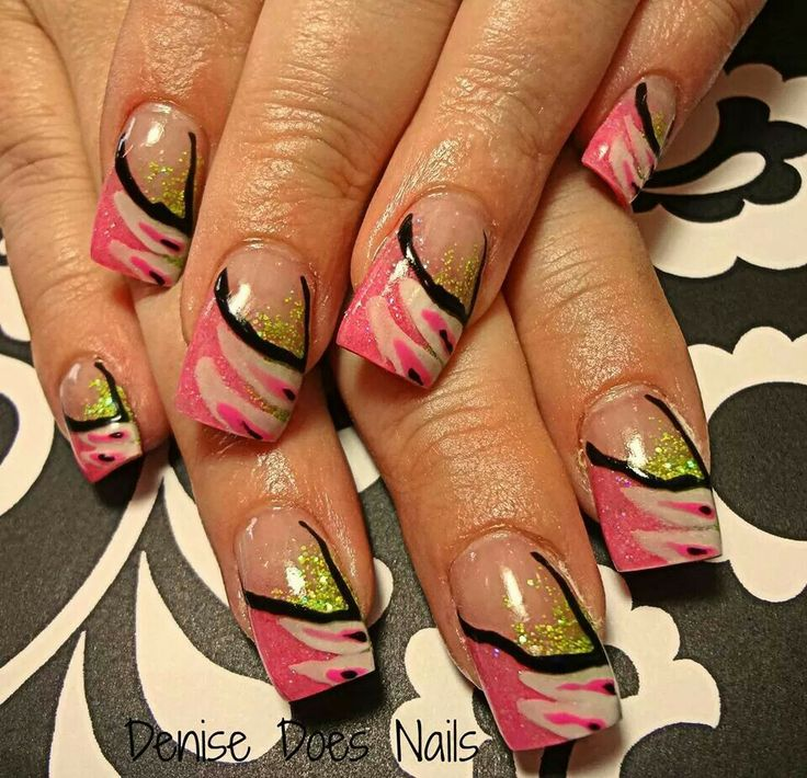 The 10 best images about nailshair on pinterest green feathers find this pin and more on nailshair pink dream by dcgroves nail art hot pink and lime green prinsesfo Choice Image