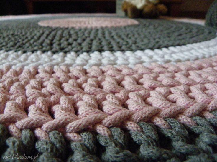 Ręcznie robiony okrągły dywan sznurka bawełnianego połączenie