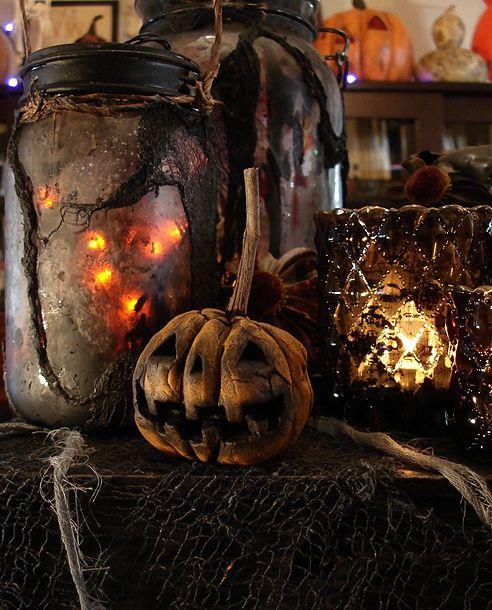 Halloween Witch Goblin Black Cat Jack O Lantern Bat