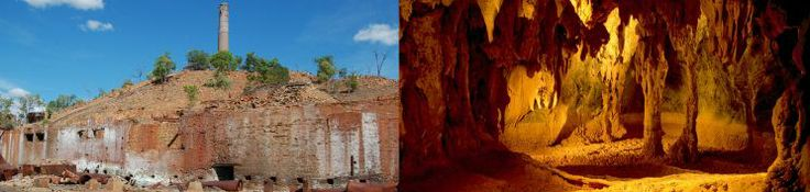 Historic smelters and limestone caves. Photos: Julie Swartz, NPRSR, and Tourism Queensland.