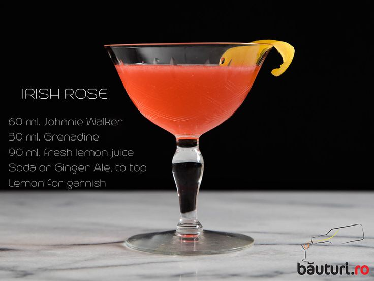 Weekend moodie? Start your week whith an Irish Rose.   Secret ingredient: Johnnie Walker: