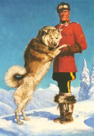 Sgt. Preston of the Yukon and his dog King