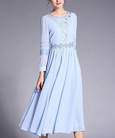 Loving this Light Blue Midi Dress on #zulily! #zulilyfinds