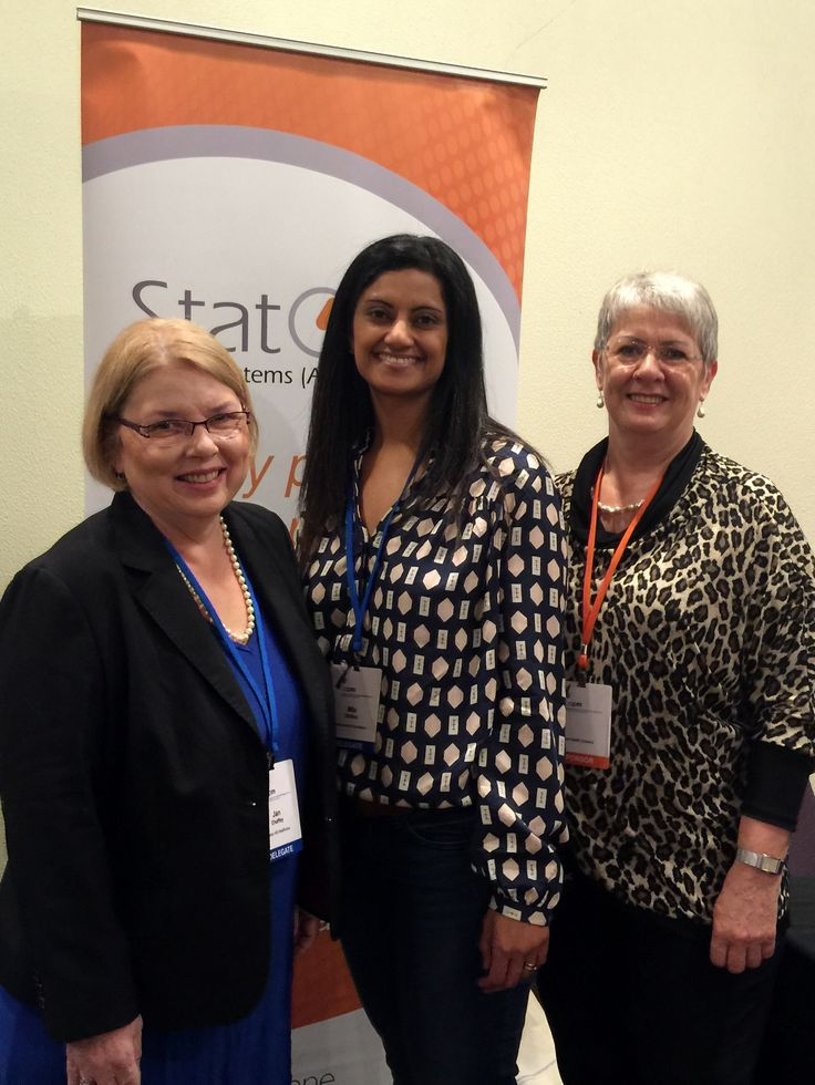 Jan Chaffey, Mia Dhillon and Carla Doolan at the AAPM Staff Development Day 2015