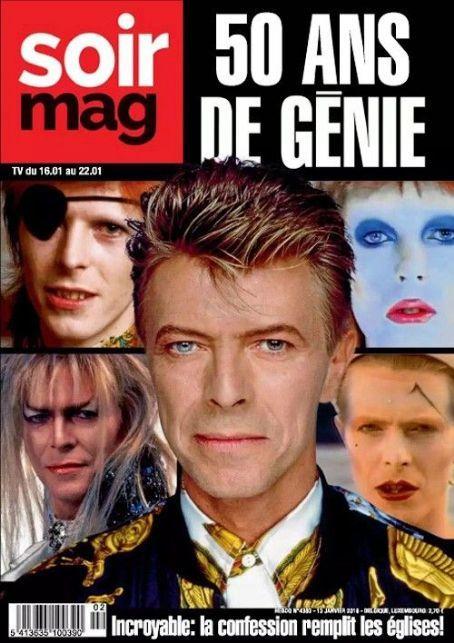 David Bowie - SoirMag Magazine Cover [Belgium] (16 January 2016)