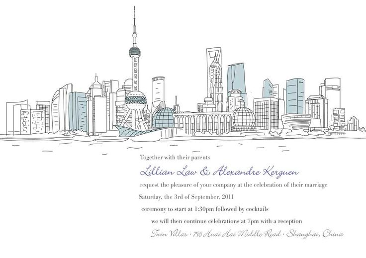 What a great idea for Save the dates or Invitations. Custom city skyline Etsy $135.